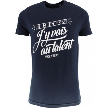 "T-SHIRT SUPPORTER UBB ""AU TALENT"" - Bleu"