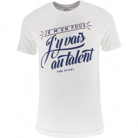"T-SHIRT SUPPORTER UBB ""AU TALENT"" - Blanc"