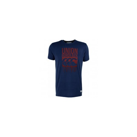 T-SHIRT ADAMS GRAPHIC BLEU UBB - CANERBURY