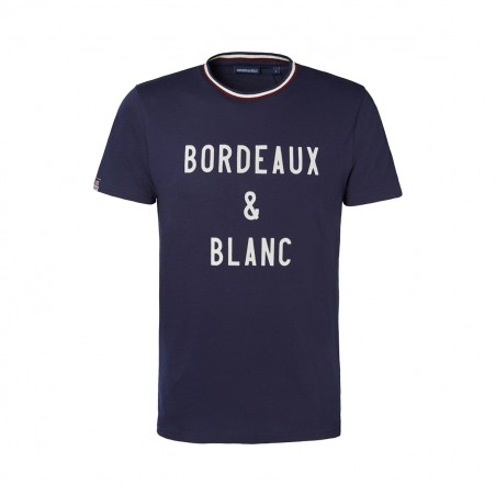 TEE SHIRT BORDEAUX & BLANC