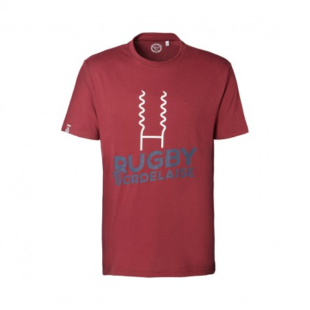 "T-SHIRT COL ROND ""RUGBY A LA BORDELAISE"""